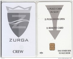 GREECE(chip) - M/Y ZURGA(glossy Surface), Cabin Keycard(crew), Used - Cartes D'hotel