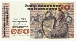 50 Pounds, 01.11.82, Eire, Républic Of Ireland, Type Signature P74a, XF+ - Ireland