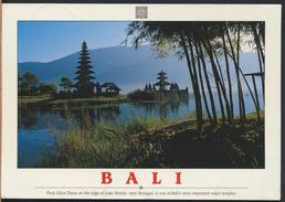 °°° GF87 - INDONESIA - BALI - PURA ULUN DANU ON THE EDGE OF LAKE BRATAN - With Stamps °°° - Indonesia