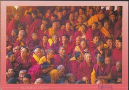°°° GF89 - NEPAL - BUDDHIST MONKS - With Stamps °°° - Nepal