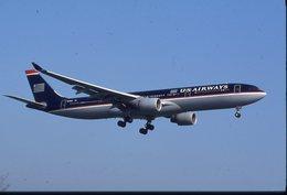 SLIDE / AVION / AIRCRAFT  ORIGINAL     US AIRWAYS  AIRBUS A 330   N675US - Diapositive