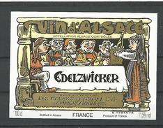 ETIQUETTE VIN D'ALSACE  EDELZWICKER  AMMERSCHWIHR NEUF QUALITÉ LUXE - Vino Blanco