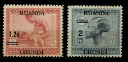 RUANDA URUNDI - 1931 SURCHARGE