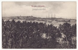CEYLON COLOMBO GENERAL VIEW, HARBOR AND SHIPS, C1910s-20s Vintage Postcard, CEYLAN - SRI LANKA - Sri Lanka (Ceylon)