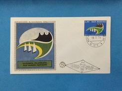 1974 Giornata Filatelica San Marino Busta Primo Giorno Fdc Filagrano Gold First Day Cover - FDC
