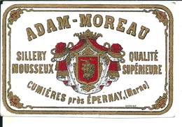 ADAM  MOREAU  SILLERY MOUSSEUX  CUMIERES  PRES  EPERNAY  Marne   Marne   LITHO - Champagne