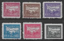CHINE ORIENTALE 1949 - Timbres N°14A, N°15A, N°17A, N°19A, N°20A & N°21B (6 Valeurs) - Neufs - Chine Orientale 1949-50