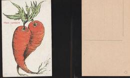 11401) COPPIA DI CAROTE E SCRITTA NON CONTARE NON VIAGGIATA 1915 CIRCA - Illustrateurs & Photographes