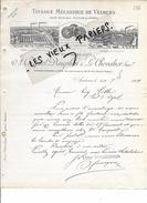 75 - Paris - PARIS - Facture COCQUEL, DAUPHIN & LE CHEVALIER - Tissage De Velours - 1904 - REF 63A - France