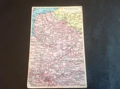 3 - Westl. Kriegsschauplatz DOVER - CALAIS - PARIS - 1914 Tampon MAGDEBURG... (Catre Champs De Bataille Front Occidental - Guerre 1914-18