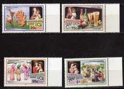 Saint Lucia 2003 Christmas.Navidad.Sorrel Flowers.Drinks.Masqueraders.Lanterns.MNH - St.Lucia (1979-...)