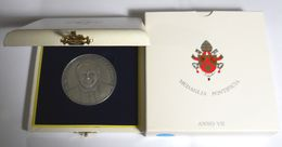 VATICANO MEDAGLIA ARGENTO PAPA BENEDETTO XVI ANNO VII IN SCATOLA ORIGINALE - Italie
