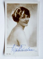 Post Card Film Cinema Actress Movie Ross Olga Tschechowa Autograph - Actors