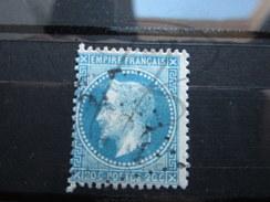 VEND BEAU TIMBRE DE FRANCE N° 29A , BLEU FONCE !!! - 1863-1870 Napoléon III Lauré