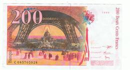 Lot  4 Billets   France  200 Fr 1999__100 Fr1997__50 Fr 19997__20fr 1997 - 1962-1997 ''Francs''