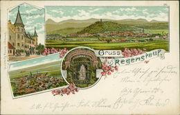 AK Regenstauf, Gruss Aus Litho Mit Schloss Spindelhof, O 1908 (3204) - Duitsland
