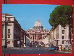 Roma / Citta Del Vaticano (RM) - Via Della Conciliazione - Piazza S. Pietro / Fiat, Autobus - Vatikanstadt