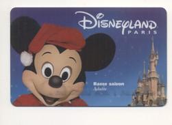 FRANCE Disney Passport Pass Ticket Disneyland Paris Mickey Mouse Basse Saison - Autres Collections