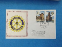 1970 Rotary International San Marino Busta Primo Giorno Fdc Filagrano Gold First Day Cover - FDC