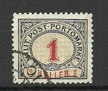 Österreich Austria Bosnia 1916 Militäre Portomarke, 1 H O - Portomarken