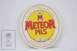 Vintage Beer Advtg Mat/ Coaster - Meteor Pils - Biere D'Alsace - Portavasos