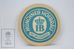 Vintage Beer Advtg Mat/ Coaster: Münchner Hofbräu Die Weltmarke - Portavasos
