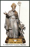 SANTINO - S.Oronzo Vescovo, Martire  - Santino Con Preghiera, Come Da Scansione. - Images Religieuses
