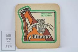 Vintage Beer Advtg Mat/ Coaster - Charlottenburger Pilsner - Engelhardt Brauerei - Portavasos
