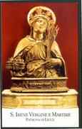 SANTINO - S. Irene Vergine E Martire - Patrona Di Lecce - Santino Con Preghiera, Come Da Scansione. - Images Religieuses