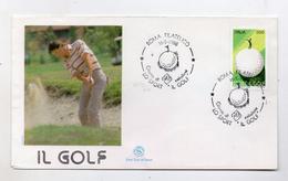 Italia - 1988 - Busta FDC - Lo Sport - Il Golf - Con Doppio Annullo Roma - (FDC4040) - Golf