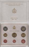 VATICANO FOLDER SET 8 VALORI 1C-2E EURO 2005 SEDE VACANTE FDC ORIGINALE - Vatican