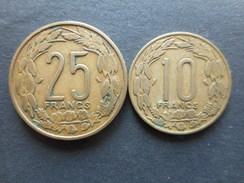 Equatorial African States 10,25 Francs 1972 (Lot Of 2 Coins) - Centrafricaine (République)