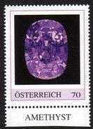 ÖSTERREICH 2015 ** AMETHYST - Edelstein, Mineralien - PM Personalized Stamp MNH - Mineralien