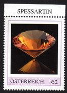 ÖSTERREICH 2015 ** SPESSARTIN - Edelstein, Mineralien - PM Personalized Stamp MNH - Mineralien
