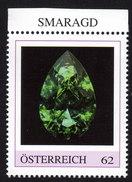 ÖSTERREICH 2015 ** SMARAGD - Edelstein, Mineralien - PM Personalized Stamp MNH - Mineralien