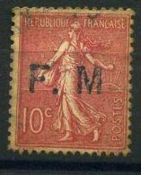 FRANCE ( F M ) : Y&T  N°  4 A  TIMBRE OBLITERE , A  VOIR . - Franchise Militaire (timbres)