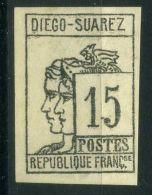 DIEGO-SUAREZ ( POSTE ) : Y&T  N°  8   FAUX  ?, TIMBRE  NEUF  FAUX  POUR  REMPLIR  UNE  CASE  , A  VOIR . - Diégo-suarez (1890-1898)