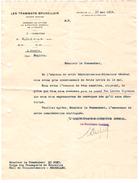 Lettre 'Les Tramways Bruxellois' Bruxelles Le 17 Mai 1919 Ayant Pour Objet Un Emploi PR4362 - 1900 – 1949