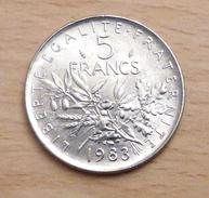 5 FRANCS SEMEUSE 1983 SPL - France