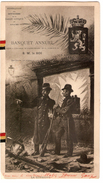 Banquet Annuel De La Fédération Des Officiers De La Garde Civique Du Royaume 25/4/1903 PR4364 - Menus