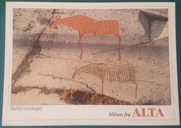 ALTA-HELLERISTNINGER - NORWAY - Hilsen Fra Alta - Helleristninger I Hjemmeluft. Elf. Ca. 5500 Ar Gamle - Rock Carvings - Norvegia