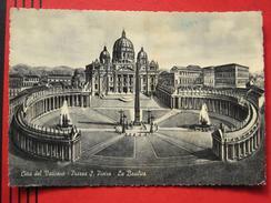 Roma / Citta Del Vaticano (RM) - Künstlerkarte Piazza S. Pietro La Basilica - Vatikanstadt