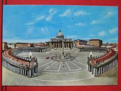 Roma / Citta Del Vaticano (RM) - Künstlerkarte Piazza S. Pietro E La Basilica - Vatikanstadt
