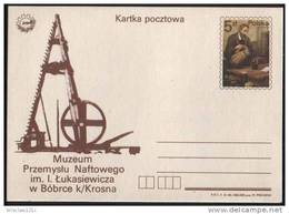 Poland Pologne, Postal Stationery, Petroleum, Petrole, I. Lukasiewicz, Museum, 1984.