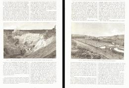 """L'EXTRACTION Du KAOLIN """" MINES DE COLETTE """" ( ALLIER )   1893 - Auvergne"""