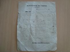 Facture MANUFACTURE DE FAÏENCE 1844 DE CHEZ AMEDEE LAMBERT - France