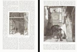 RESTAURATION DU GROS HORLOGE à ROUEN  1893 - Picardie - Nord-Pas-de-Calais