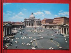 Roma / Citta Del Vaticano (RM) - Piazza E Basilica Di S. Pietro / Autobus, Auto (Fiat, VW ...) - Vatikanstadt