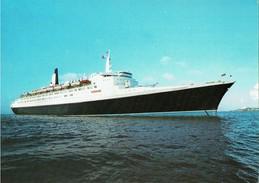 Shipping Postcard Cunard QE2 RMS Queen Elizabeth 2 Ocean Liner Ship Line - Steamers
