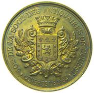 MEDAILLE De La Societé Des ANTIQUAIRES De L' OUEST - Cinquantenaire / 50re Et CONGRES Du 1884 - Bronze - Professionali / Di Società